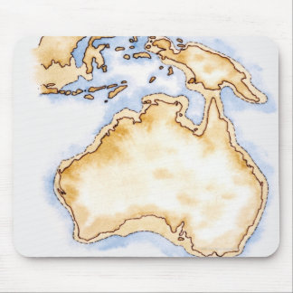 Illustration of simple outline map of Australia Mouse Pad