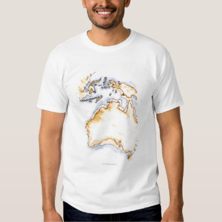 Illustration of simple outline map of Australia T Shirt