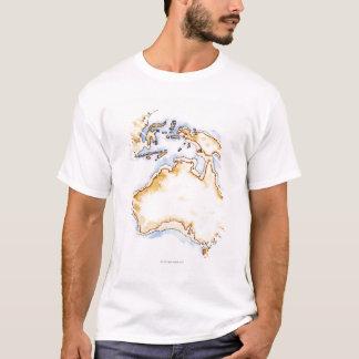 Illustration of simple outline map of Australia T-Shirt