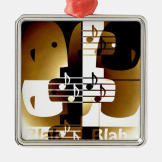 Illustration of Singing couple Metal Ornament
