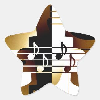 Illustration of Singing couple Star Sticker