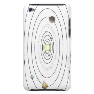 Illustration of solar system showing planets iPod touch Case-Mate case
