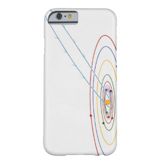 Illustration of solar system with path of barely there iPhone 6 case