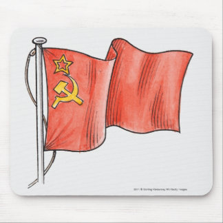 Illustration of Soviet flag Mouse Pad