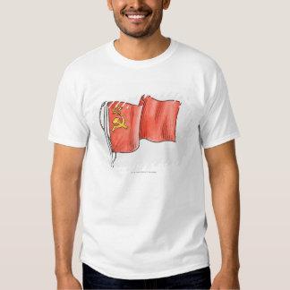 Illustration of Soviet flag T Shirt