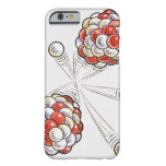 Illustration of split atoms and neutrons barely there iPhone 6 case