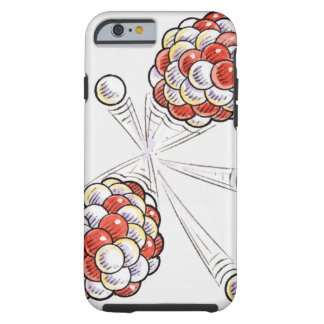 Illustration of split atoms and neutrons iPhone 6 case