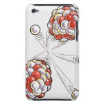 Illustration of split atoms and neutrons iPod touch case