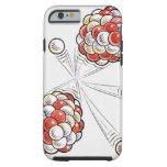 Illustration of split atoms and neutrons tough iPhone 6 case