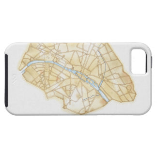Illustration of streets of Paris during 1789 iPhone SE/5/5s Case