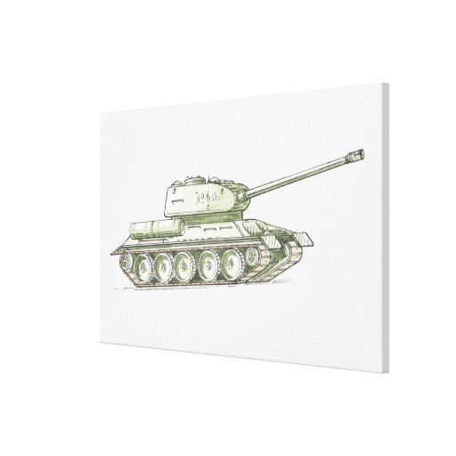 Illustration of tank gallery wrapped canvas