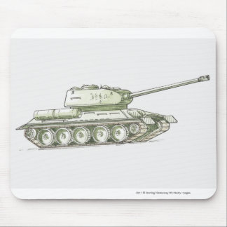 Illustration of tank mouse pad