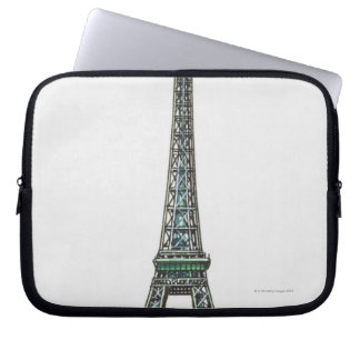 Illustration of the Eiffel Tower Laptop Sleeve
