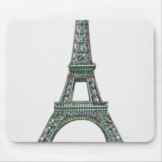 Illustration of the Eiffel Tower Mouse Pad