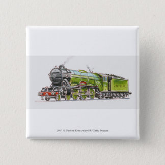 Illustration of the Flying Scotsman train Button