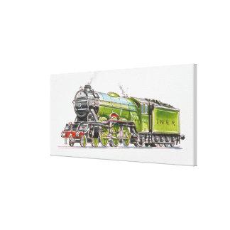 Illustration of the Flying Scotsman train Canvas Print