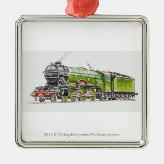Illustration of the Flying Scotsman train Metal Ornament
