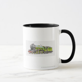 Illustration of the Flying Scotsman train Mug