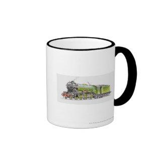 Illustration of the Flying Scotsman train Mugs