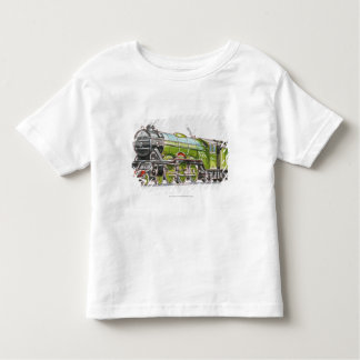 Illustration of the Flying Scotsman train Tee Shirt