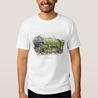 Illustration of the Flying Scotsman train Tee Shirt