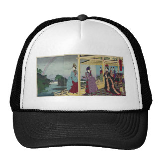 Illustration of the Garden Refreshed after Rain Trucker Hat