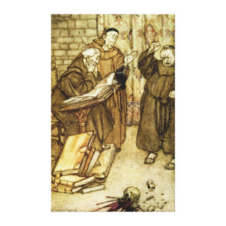 Illustration of 'The Jackdaw of Rheims' Canvas Print