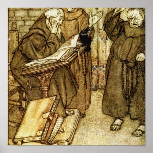Illustration of 'The Jackdaw of Rheims' Print