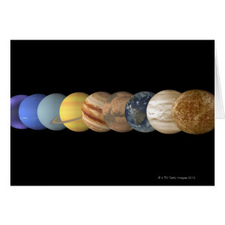 Illustration of the Planets in Alignment Card