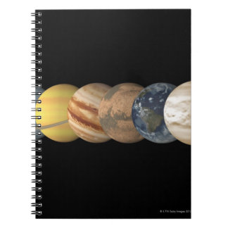 Illustration of the Planets in Alignment Spiral Note Books