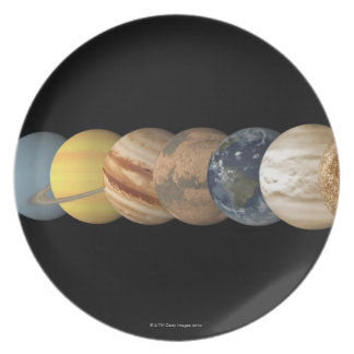 Illustration of the Planets in Alignment Plate