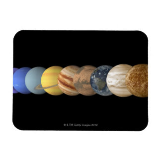 Illustration of the Planets in Alignment Rectangular Photo Magnet