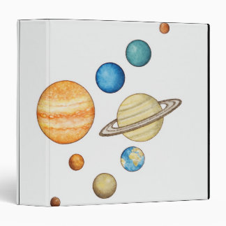 Illustration of the planets of the solar system binder