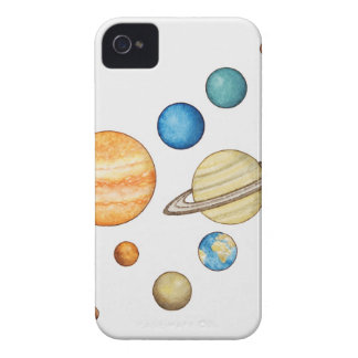 Illustration of the planets of the solar system Case-Mate iPhone 4 cases