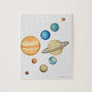 Illustration of the planets of the solar system jigsaw puzzle
