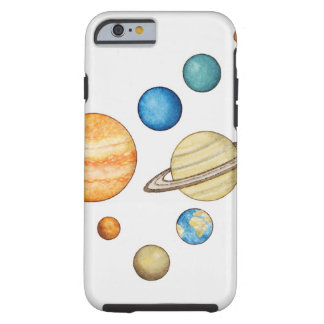Illustration of the planets of the solar system tough iPhone 6 case