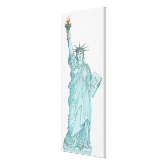 Illustration of the Statue of Liberty Canvas Print