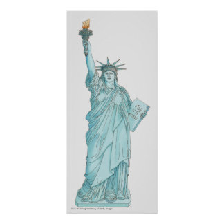 Illustration of the Statue of Liberty Poster