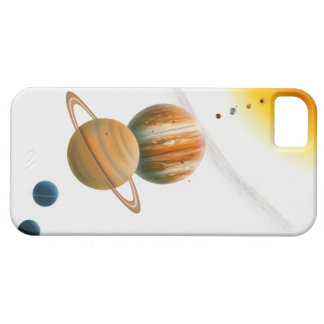 Illustration of the Sun, Mercury, Venus moon iPhone 5 Case