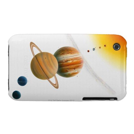 Illustration of the Sun, Mercury, Venus moon iPhone 3 Case-Mate Case