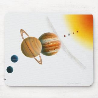 Illustration of the Sun, Mercury, Venus moon Mouse Pad