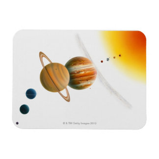 Illustration of the Sun, Mercury, Venus moon Rectangular Photo Magnet