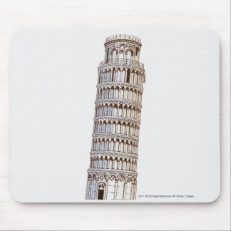 Illustration of the Tower of Pisa Mousepads