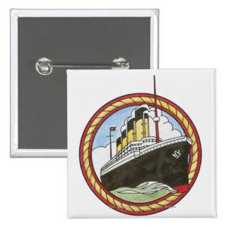 Illustration of Titanic Pinback Button