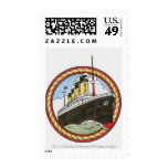 Illustration of Titanic Postage Stamps