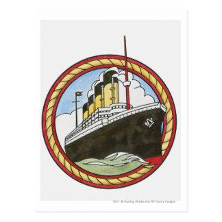 Illustration of Titanic Postcard