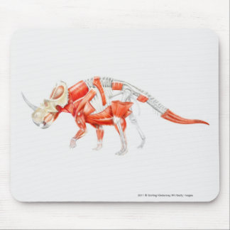 Illustration of Triceratops muscular system Mouse Pad