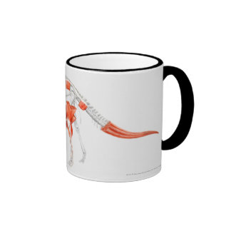Illustration of Triceratops muscular system Ringer Coffee Mug