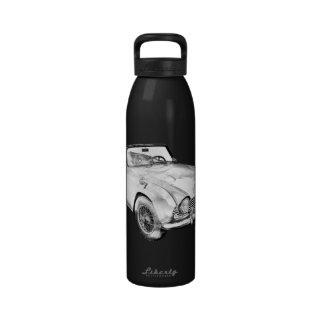 Illustration Of Triumph Tr4 Sports Car Drinking Bottles