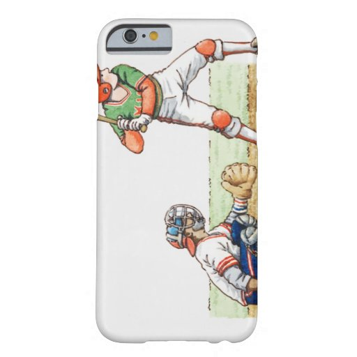 Illustration of two baseball players iPhone 6 case